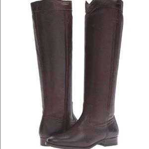 NEW Frye Brown Cara Tall Leather Boots Sz 8